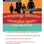 Anthropology Internship Information Session